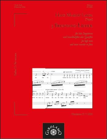 3 Brentano-Lieder: für hohe Singstimme und Tenorblockflöte