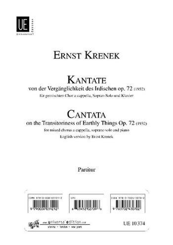 Kantate opus.72: für Sopran, Chor und Klavier