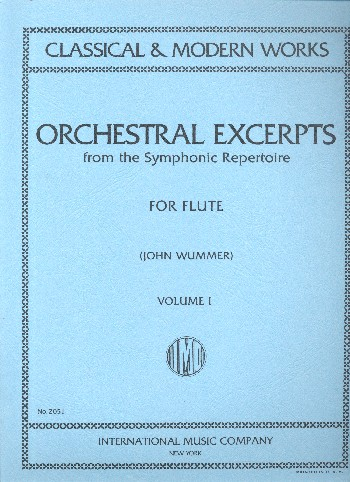 Orchestral Excerpts from the symphonic Repertoire vol.1: for flute