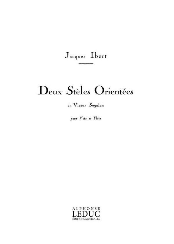 2 stèles orientées: pour voix et flûte