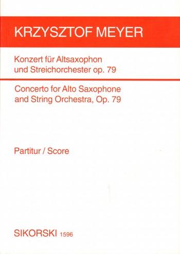 KONZERT OP.79: für ALTSAXOPHON UND STREICHORCHESTER, TASCHENPARTI-