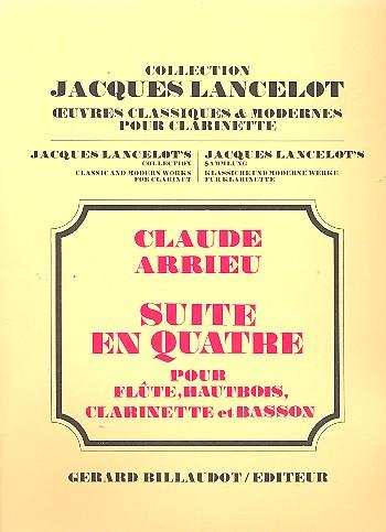 Arrieu, Claude - Suite en quatre : pour flute, hautbois,