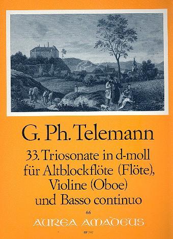 Telemann, Georg Philipp - Triosonate d-Moll Nr.33 : für Alt-