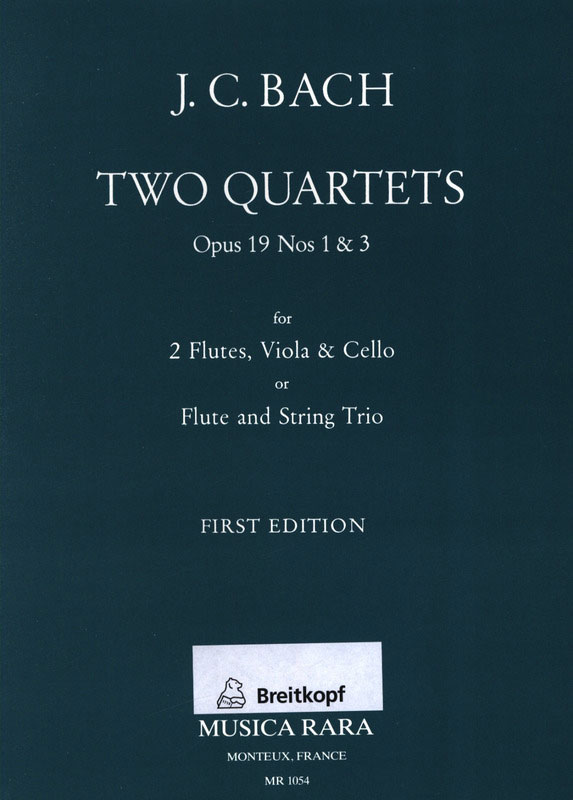 2 Quartette opus.19,1 und opus.19,3: für 2 Flöten, Viola und Cello