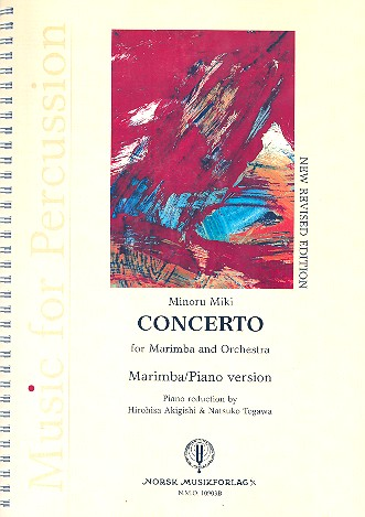 Concerto for marimba and orchestra: for marimba and piano