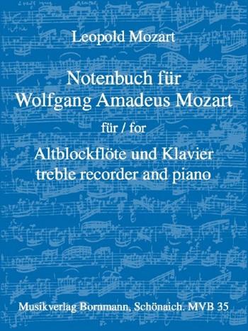 Mozart, Leopold - Notenbuch für Wolfgang Amadeus