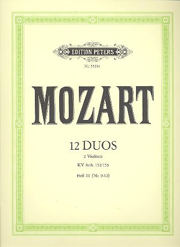 Mozart, Wolfgang Amadeus - 12 Duos KV Anh. 152 Band 3 (Nr.9-12) :