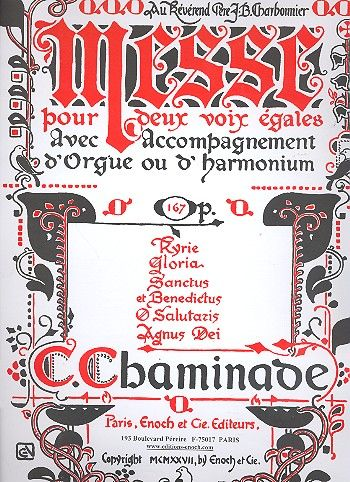 Chaminade, Cecile Louise S. - Messe op.167 : pour 2 voix égales