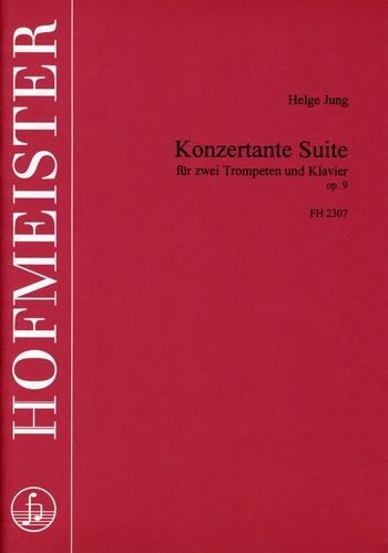 Konzertante Suite opus.9: für 2 Trompeten und Klavier