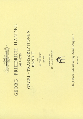 Händel, Georg Friedrich - Orgel-Transkriptionen Band 2