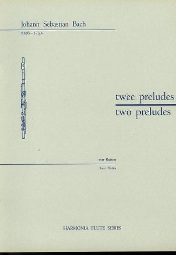 2 preludes: for 4 flutes, score