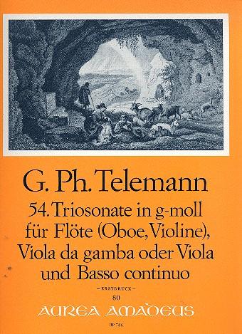 Telemann, Georg Philipp - Triosonate g-Moll Nr.54 : für