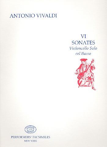 6 sonates: per violoncello solo col basso