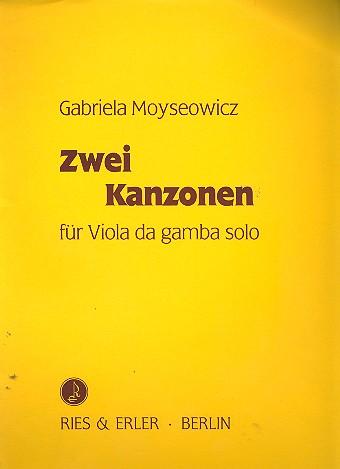 2 Kanzonen: für Viola da gamba