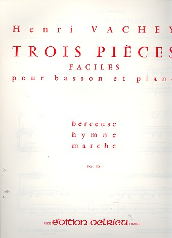 Vachey, Henri - 3 pièces faciles : pour basson et piano