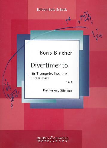 Divertimento: für Trompete, Posaune und Klavier