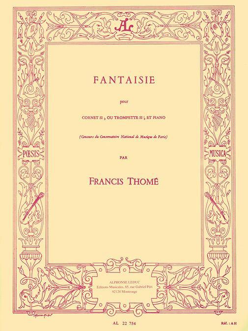 Thomé, Francis - Fantaisie : pour cornet si b ou