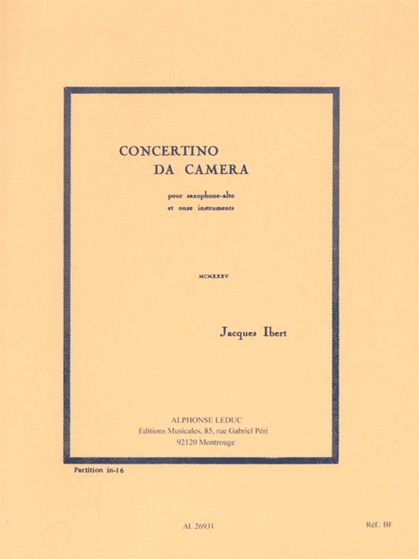 Concertino da camera: pour saxophone alto et 11 instruments