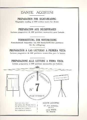 Preparation for Sight-Reading 7: Progressive reading of 600 written