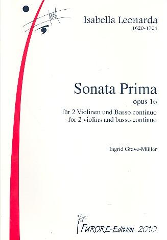 Leonarda, Isabella - Sonata prima op.16 : für 2 Violinen