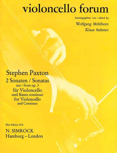 2 Sonaten aus opus.3: für Violoncello und Bc
