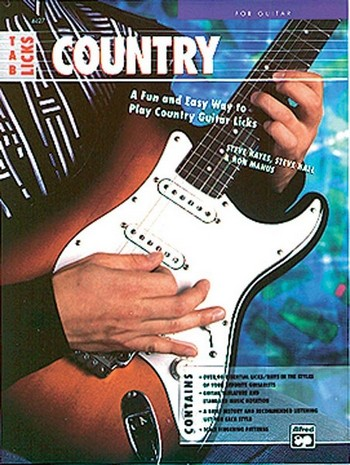 COUNTRY: BOOK WITH TAB LICKS FOR GUITAR