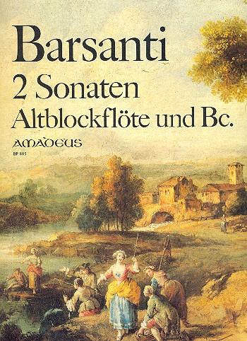 Barsanti, Francesco - 2 Sonaten op.2,1 und op.2,2 :