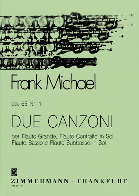 2 Canzoni opus.65,1: für Flöte, Altflöte Bassflöte und Subbassflöte