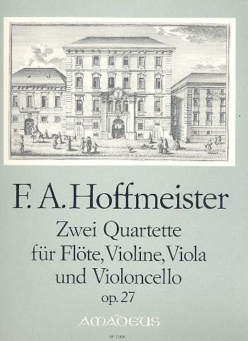 2 Quartette opus.27: für Flöte und Streichtrio Stimmen