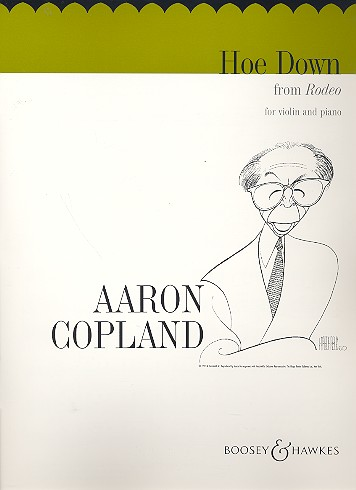 Copland, Aaron - Hoe-down from Rodeo : for violin