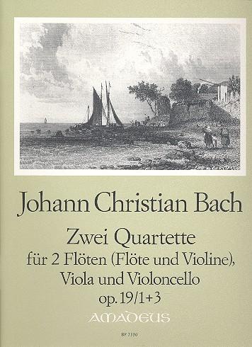 2 Quartette opus.19,1 und opus.19,3: für 2 Flöten (FL+VL), Viola und