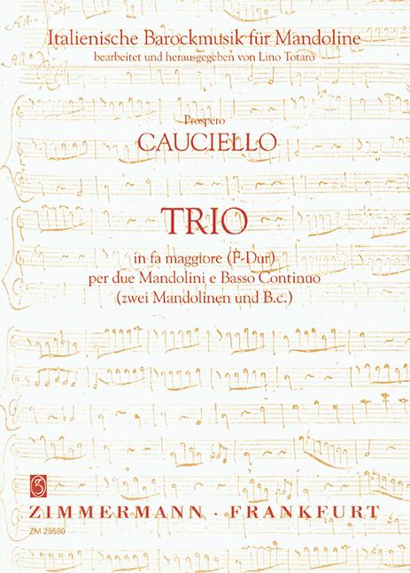 Trio F-Dur: für 2 Mandolinen und Bc