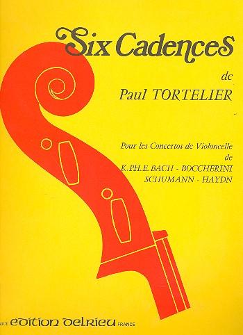 6 cadences pour les concertos de violoncelle de C.Ph.Bach, Boccherini, Schumann, Haydn