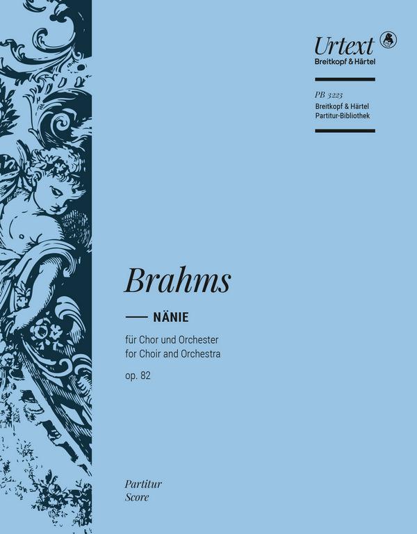 Brahms, Johannes - Nänie op.82 : für Chor und Orchester