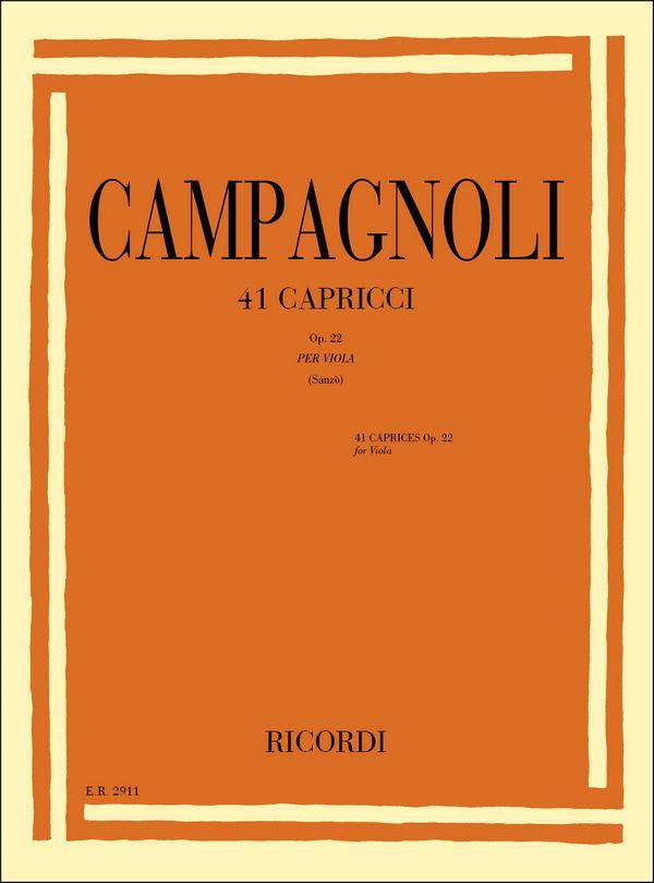 Campagnoli, Bartolommeo - 41 capricci op.22 : per viola
