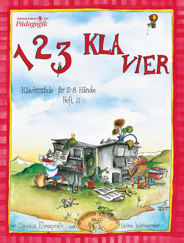 1 2 3 Klavier Band 2: Klavierschule für 2-8 Hände