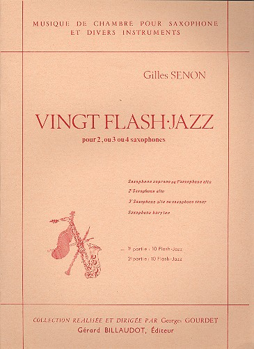 20 Flash Jazz vol.1: 10 flash jazz pour 2,3 ou 4 saxophones