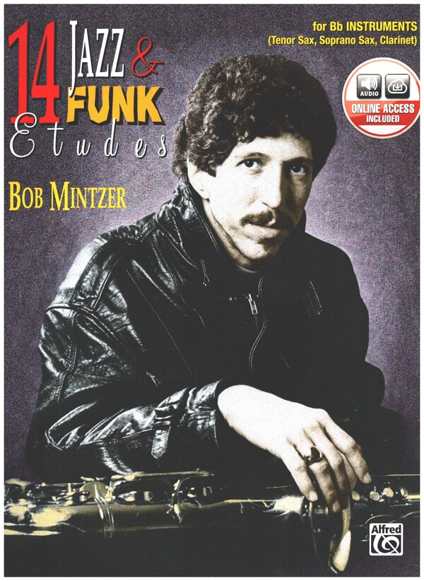 14 Jazz and Funk Etudes (+CD): Saxophone or clarinet in Bb