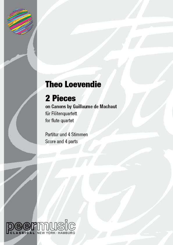2 Pieces on Canons by Guillaume de Machaut: for 3 flutes in C and alto flute in G