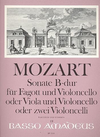 Mozart, Wolfgang Amadeus - Sonate B-Dur KV292 : für Fagott