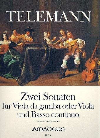 Telemann, Georg Philipp - 2 Sonaten : für Viola da gamba