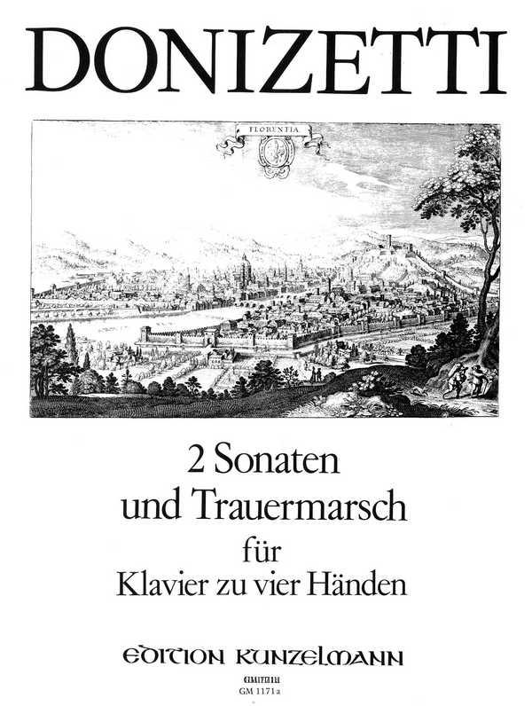 2 Sonaten und Trauermarsch: für Klavier zu 4 Händen in 4 Systemen