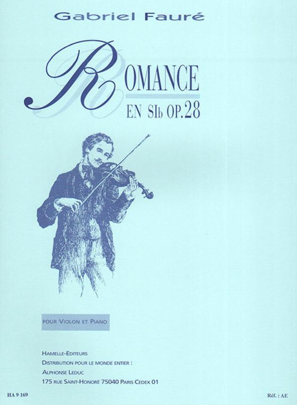 Fauré, Gabriel Urbain - Romance op.28 Sib majeur :