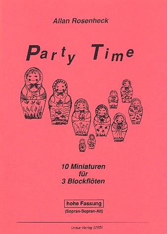 Party Timefuer 3 Blockfloeten (SSA)Partitur