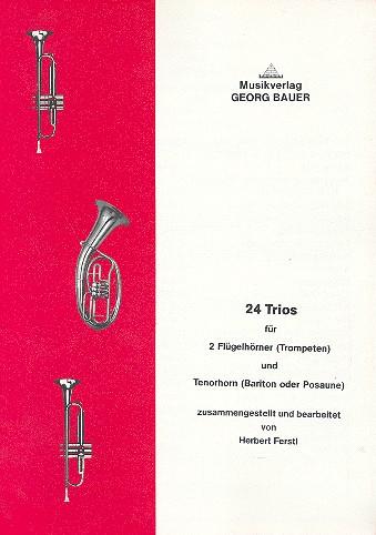 24 Trios: für 2 Flügelhörner (Trompeten) und Tenorhorn (Bariton/Posaune)