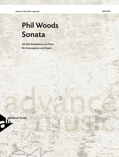 Woods, Phil - Sonata : for alto sax and piano