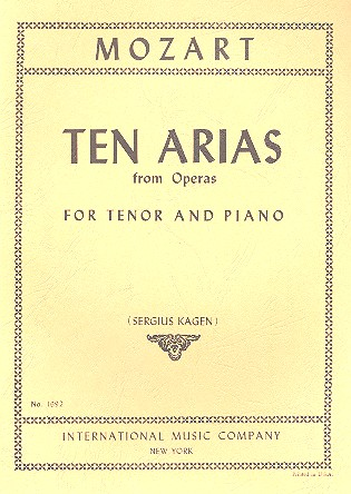 10 Arias from Operas: for tenor and piano