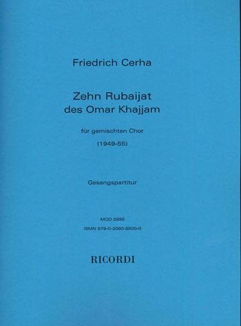 10 rubaijat des Omar Khajjam: für gem Chor (dt)
