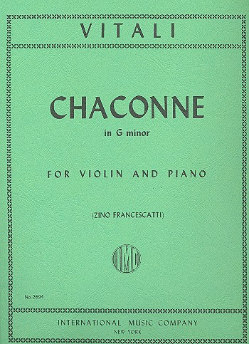 Vitali, Filippo - Chaconne g minor : for violin