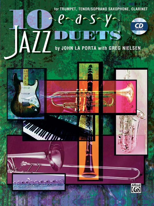 10 easy Jazz Duets (+CD): for trumpet, tenor / soprano sax
